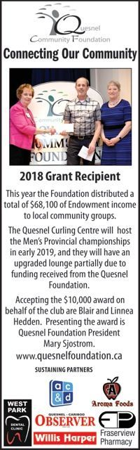 Quesnel Curling Club receives funds from QCF
