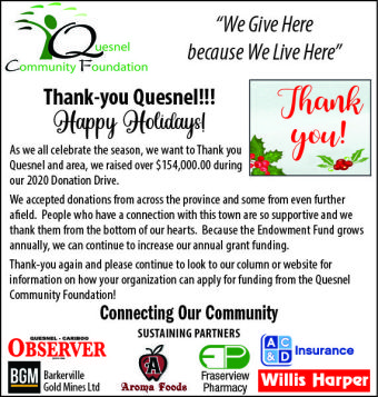Quesnel Community Match Campaign exceeds its target